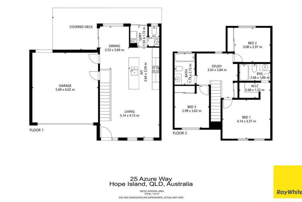 Floorplan of Homely house listing, 25 Azure Way, Hope Island QLD 4212