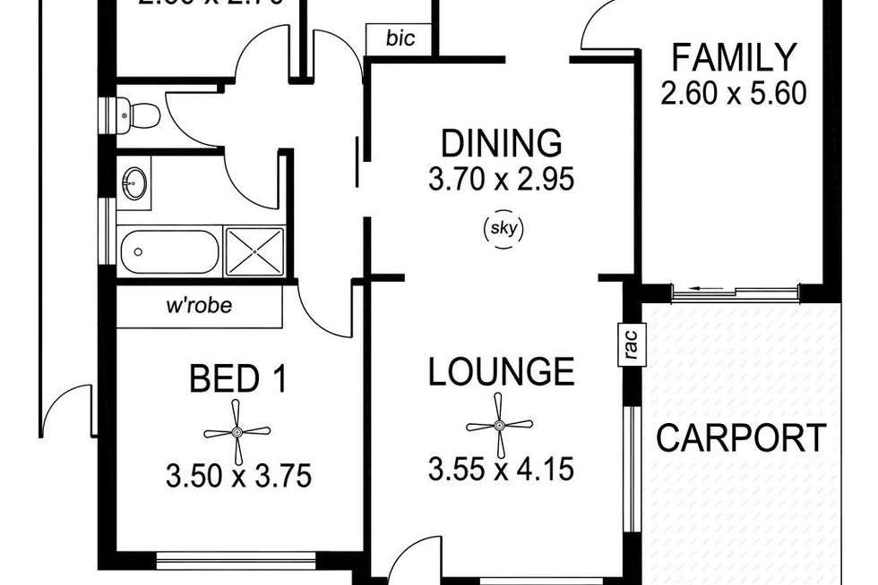 Floorplan of Homely house listing, 2/64 Melville Street, South Plympton SA 5038