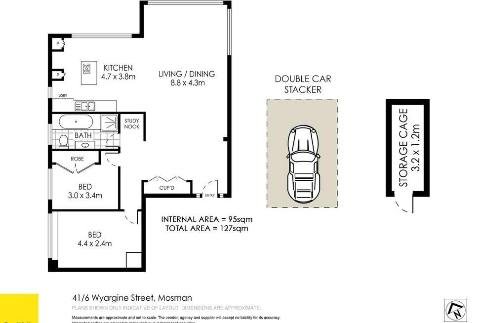 Floorplan of Homely apartment listing, 41/6 Wyargine Street, Mosman NSW 2088