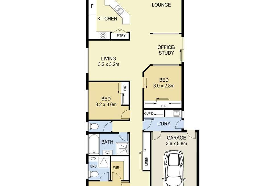 Floorplan of Homely house listing, 14 Lauricella Place, Caroline Springs VIC 3023