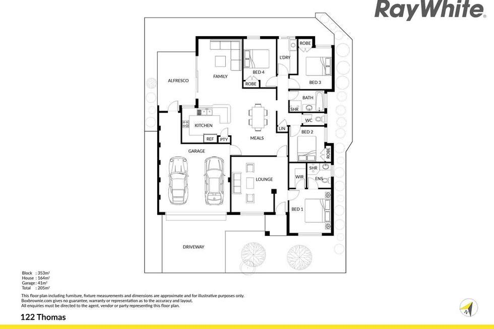 Floorplan of Homely house listing, 1/122 Thomas Street, Queens Park WA 6107