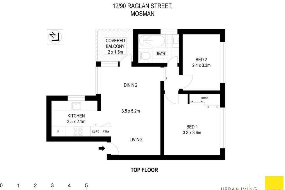 Floorplan of Homely apartment listing, 12/90 Raglan Street, Mosman NSW 2088
