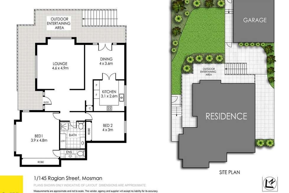 Floorplan of Homely apartment listing, 1/145 Raglan Street, Mosman NSW 2088