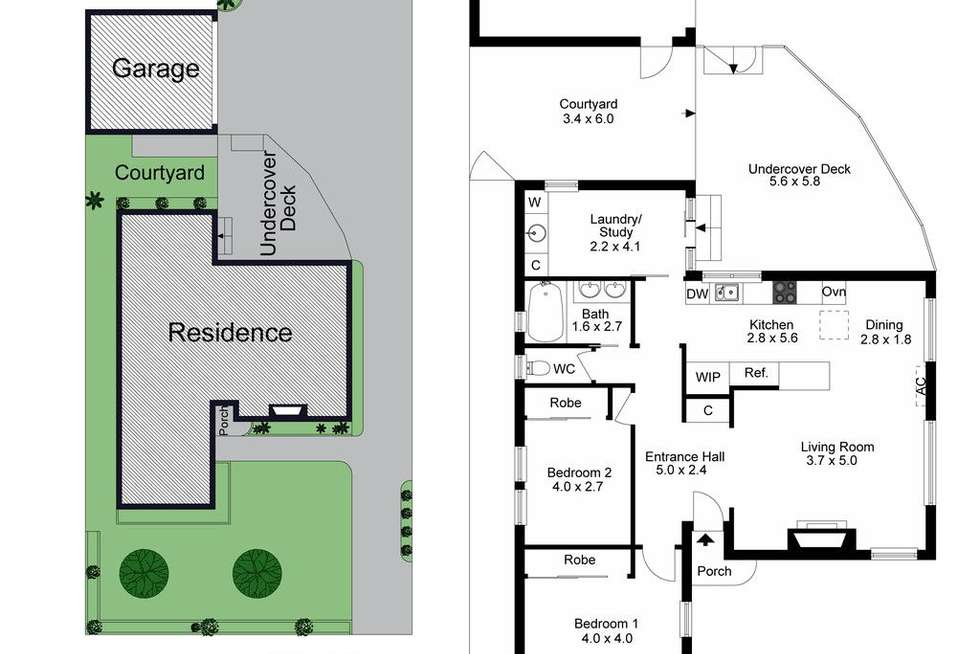 Floorplan of Homely townhouse listing, 1/17 Cleek Avenue, Oakleigh South VIC 3167