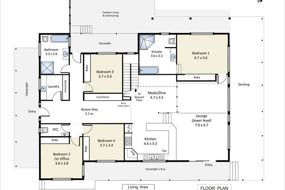 Floorplan of Homely house listing, 253 Farley Road, Kingston On Murray SA 5331