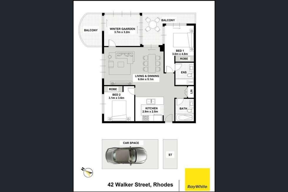 Floorplan of Homely apartment listing, 1203/42 Walker Street, Rhodes NSW 2138