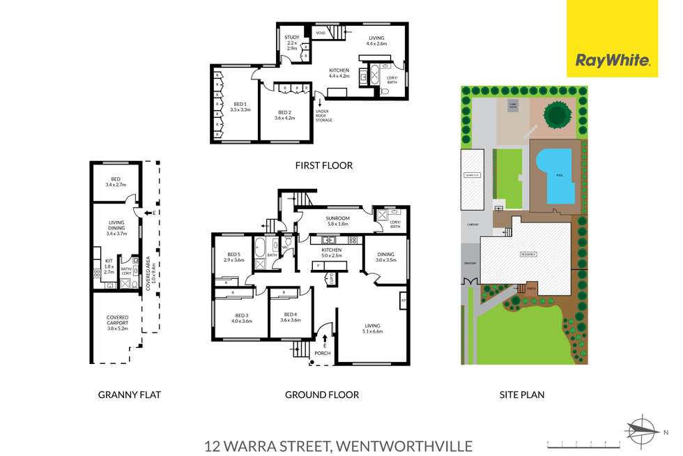 Floorplan of Homely house listing, 12 Warra Street, Wentworthville NSW 2145