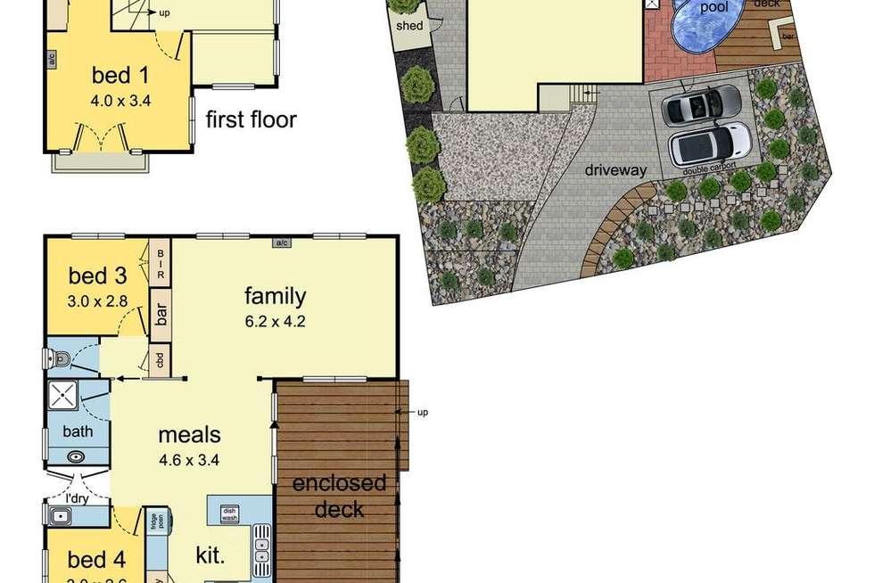 Floorplan of Homely house listing, 63 Haverbrack Drive, Mulgrave VIC 3170