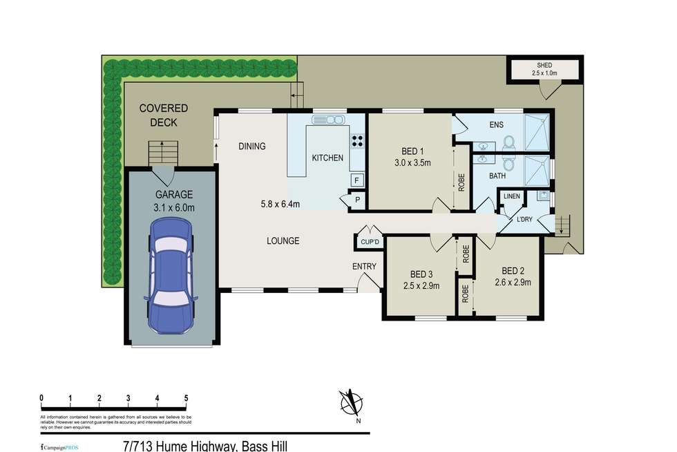 Floorplan of Homely house listing, 7/713 Hume Highway, Bass Hill NSW 2197
