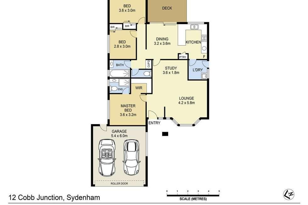 Floorplan of Homely house listing, 12 Cobb Junction, Sydenham VIC 3037