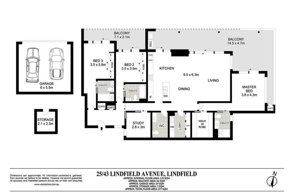 Floorplan of Homely apartment listing, 25/43 Lindfield Avenue, Lindfield NSW 2070