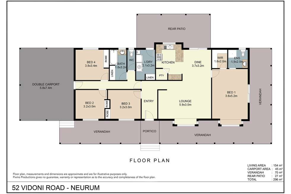 Floorplan of Homely house listing, 52 Vidoni Road, Neurum QLD 4514