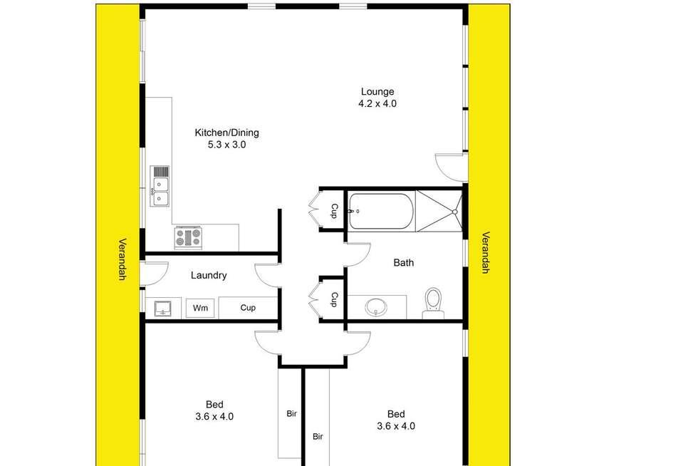 Floorplan of Homely unit listing, 6/32-34 Hampden Street, Firle SA 5070