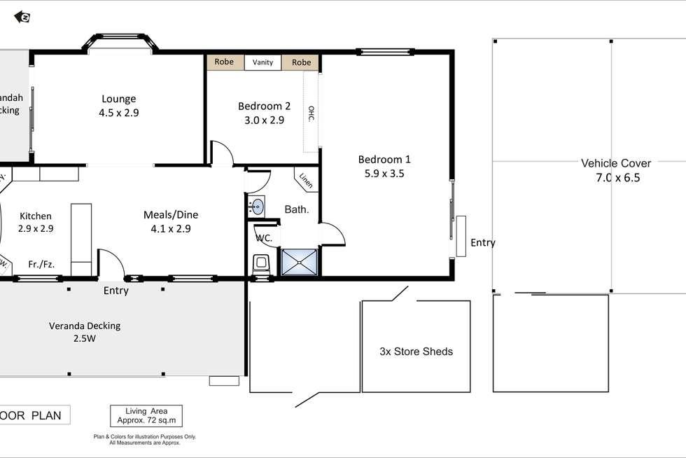 Floorplan of Homely house listing, No 4 Barmera Caravan Park, Barmera SA 5345