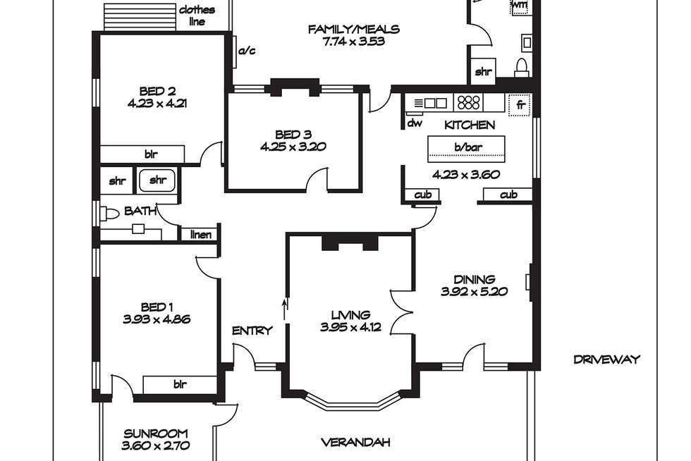 Floorplan of Homely house listing, 32 Dunluce Avenue, Brighton SA 5048