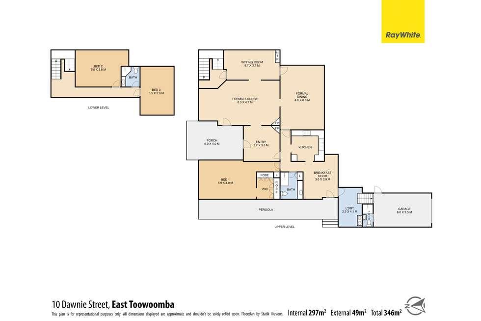 Floorplan of Homely house listing, 10 Dawnie Street, East Toowoomba QLD 4350