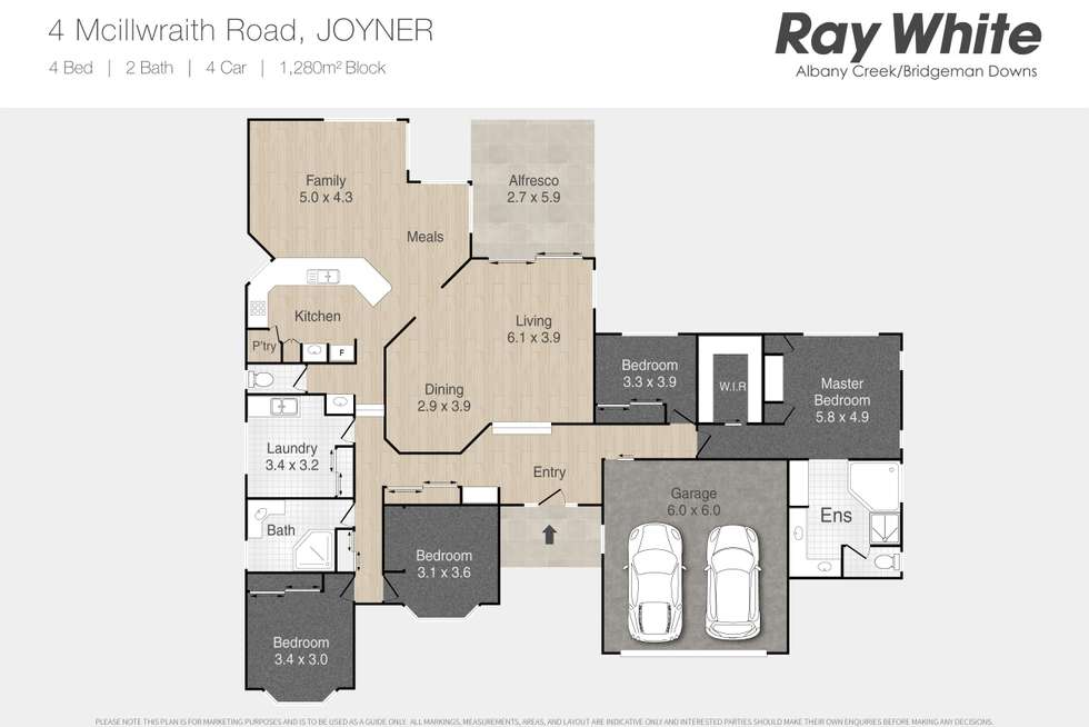 Floorplan of Homely house listing, 4 Mcillwraith Road, Joyner QLD 4500