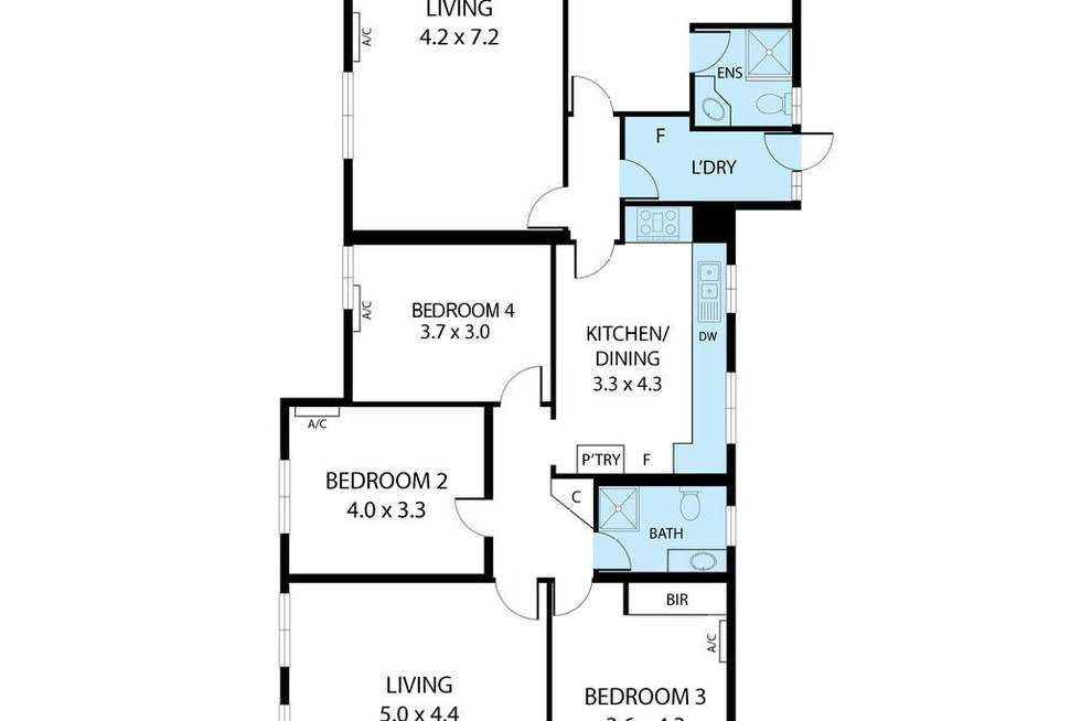 Floorplan of Homely house listing, 172 Oates Avenue, Holland Park QLD 4121