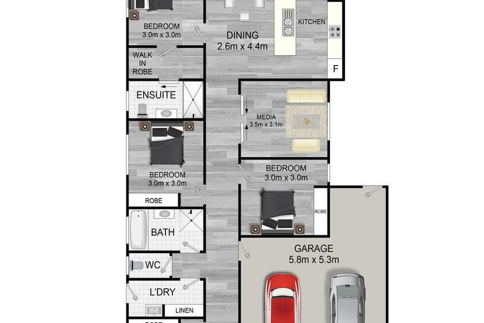 Floorplan of Homely house listing, 14 Viola Square, Peregian Springs QLD 4573