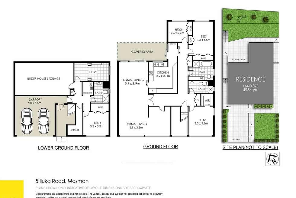 Floorplan of Homely house listing, 5 Iluka Road, Mosman NSW 2088