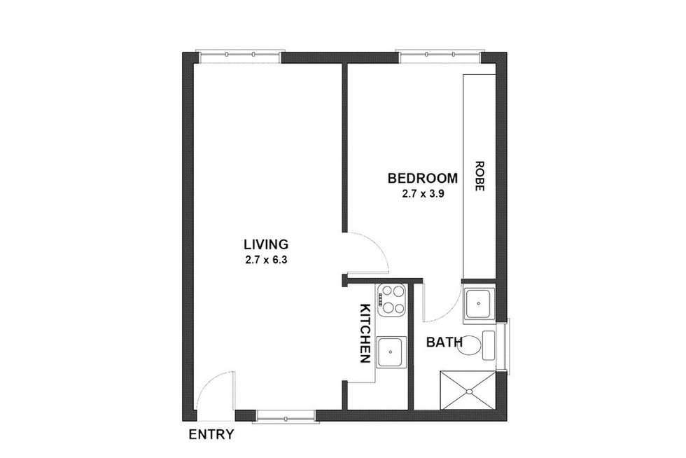Floorplan of Homely apartment listing, 3/12A Esther Road, Mosman NSW 2088