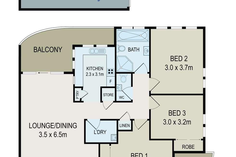 Floorplan of Homely unit listing, 7/19 Marsden Street, Granville NSW 2142
