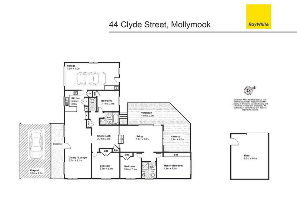 Floorplan of Homely house listing, 44 Clyde Street, Mollymook NSW 2539
