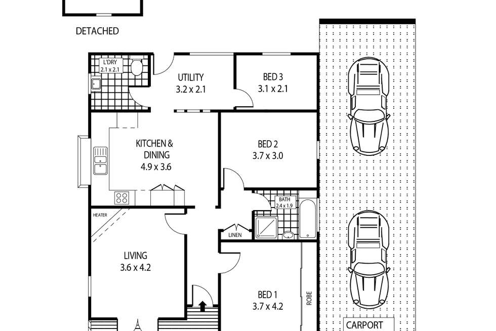 Floorplan of Homely house listing, 35 Poulter Street, West Wollongong NSW 2500