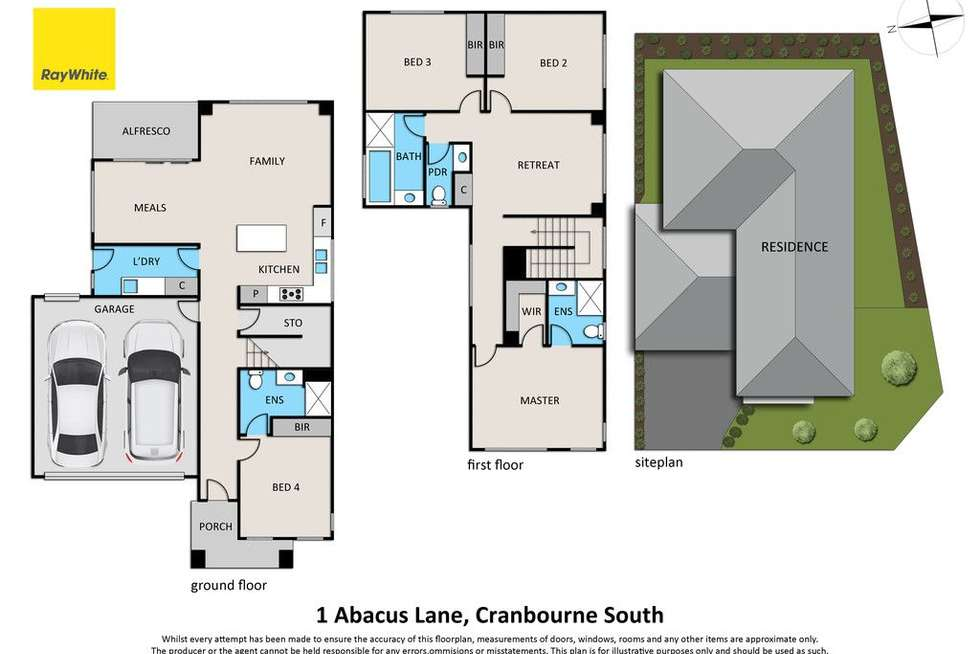 Floorplan of Homely house listing, 1 Abacus Lane, Cranbourne South VIC 3977