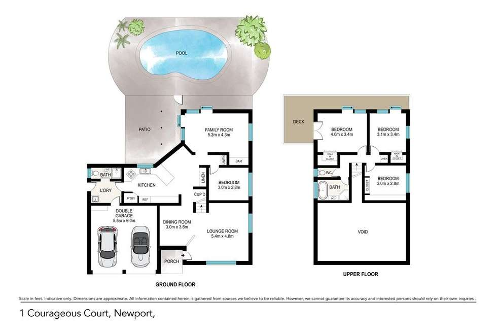 Floorplan of Homely house listing, 1 Courageous Court, Newport QLD 4020