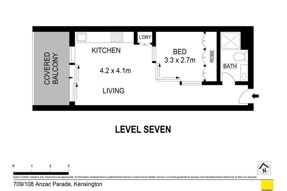 Floorplan of Homely apartment listing, 709/84-108 Anzac Parade, Kensington NSW 2033