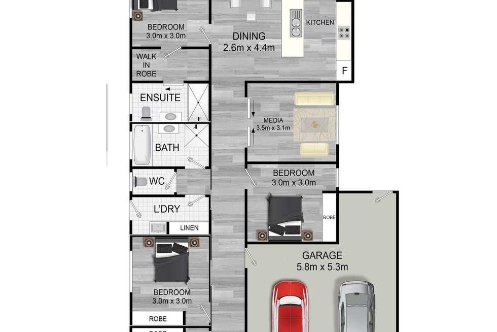 Floorplan of Homely house listing, 36 Viola Square, Peregian Springs QLD 4573