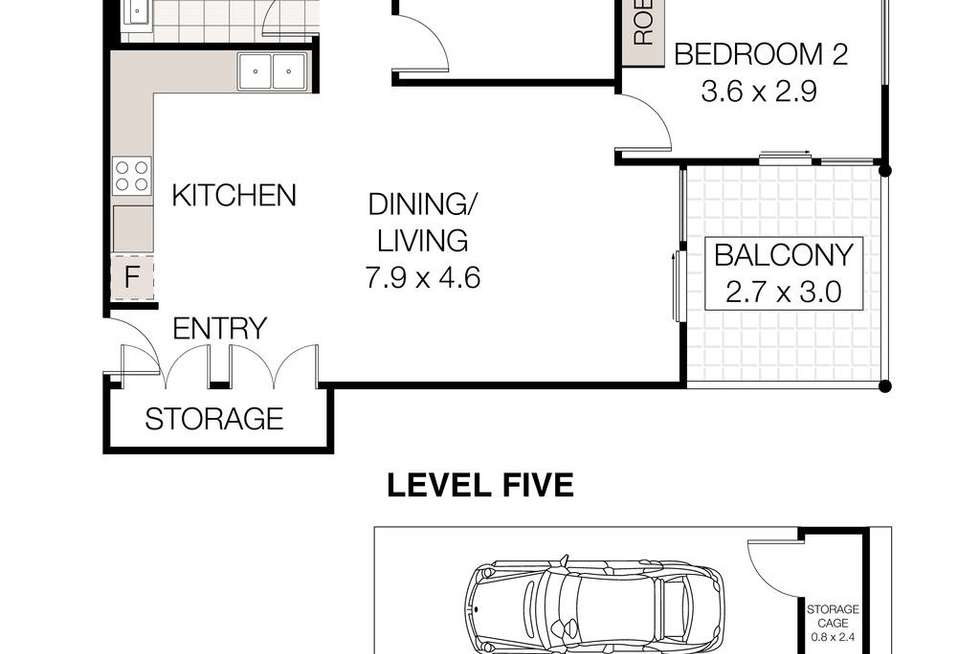 Floorplan of Homely unit listing, 502A/29 Lindfield Avenue, Lindfield NSW 2070
