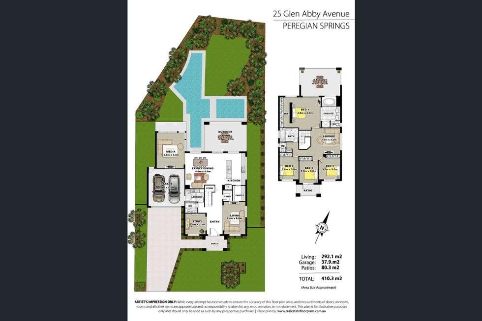 Floorplan of Homely house listing, 25 Glen Abby Avenue, Peregian Springs QLD 4573