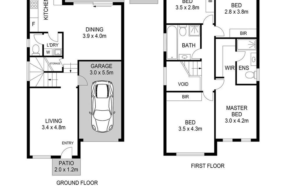 Floorplan of Homely townhouse listing, 41/570 Sunnyholt Road, Stanhope Gardens NSW 2768