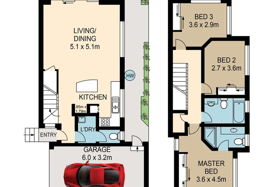 Floorplan of Homely townhouse listing, 4/53 Jones Road, Carina Heights QLD 4152