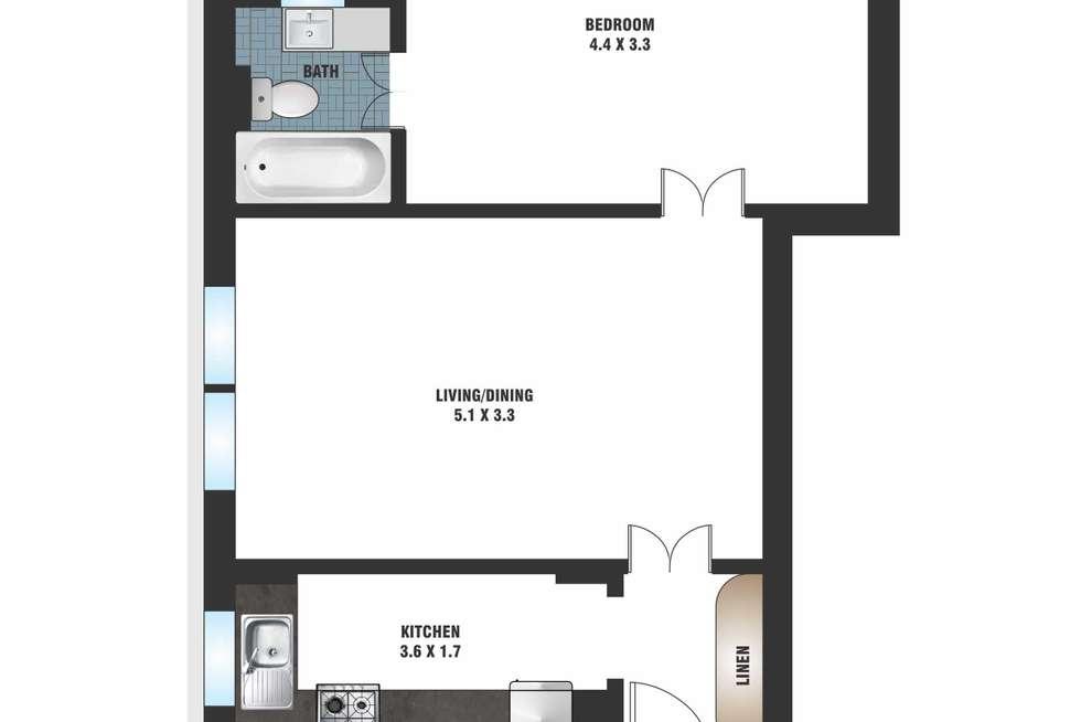 Floorplan of Homely apartment listing, 3/6-8 Ithaca Road, Elizabeth Bay NSW 2011