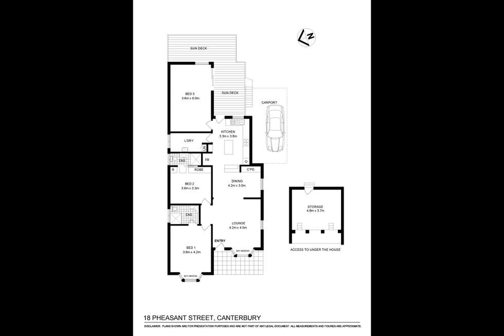 Floorplan of Homely house listing, 18 Pheasant Street, Canterbury NSW 2193