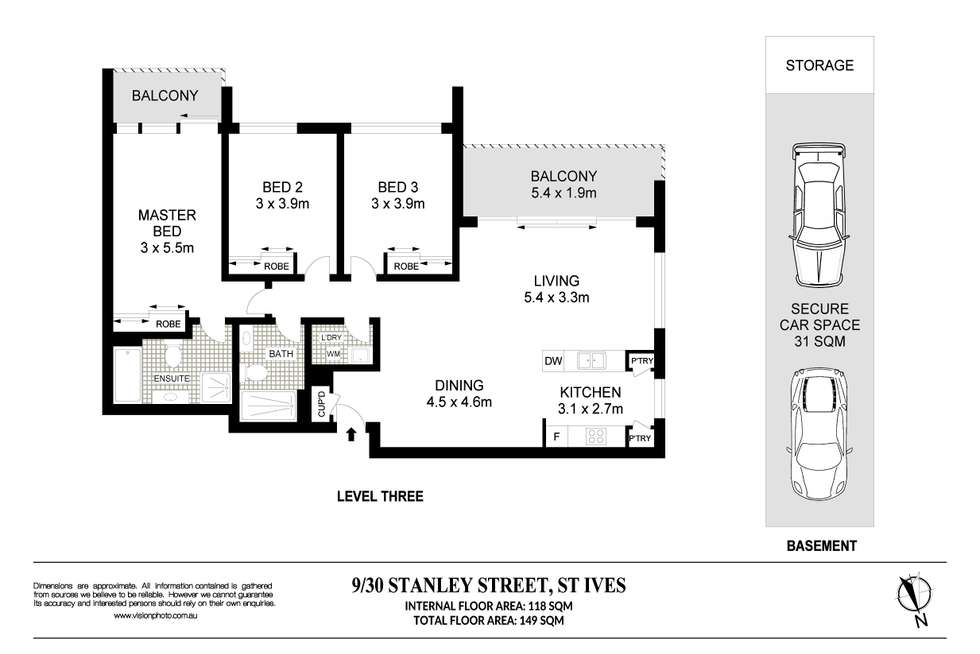 Floorplan of Homely unit listing, 9/30 Stanley Street, St Ives NSW 2075