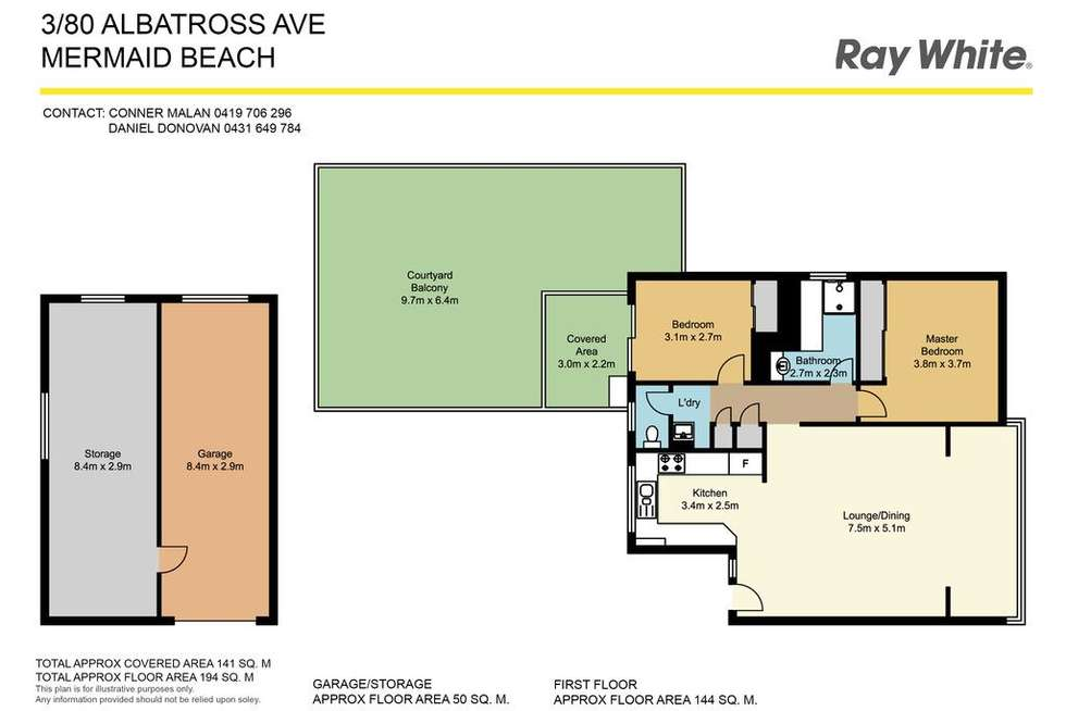Floorplan of Homely unit listing, 3/80 Albatross Avenue, Mermaid Beach QLD 4218