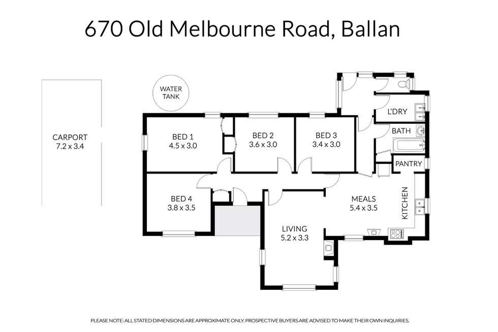 Floorplan of Homely house listing, 670 Old Melbourne Road, Ballan VIC 3342