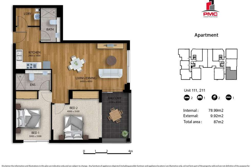 Floorplan of Homely apartment listing, 111/30 Donald Street, Carlingford NSW 2118