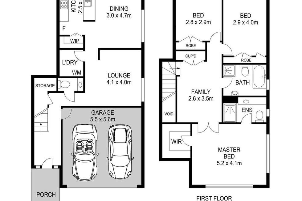 Floorplan of Homely semiDetached listing, 54 Bentwood Terrace, Stanhope Gardens NSW 2768