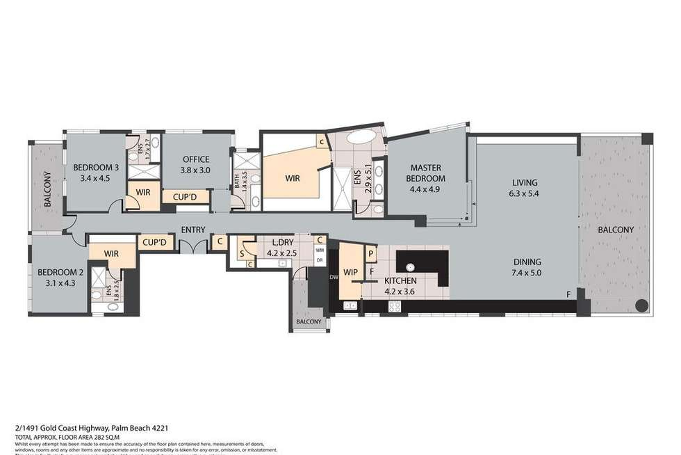 Floorplan of Homely apartment listing, 2/1491 Gold Coast Highway, Palm Beach QLD 4221