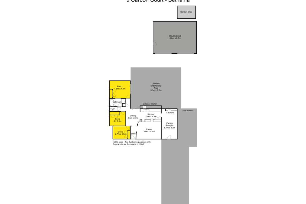 Floorplan of Homely house listing, 9 Carbon Court, Bethania QLD 4205