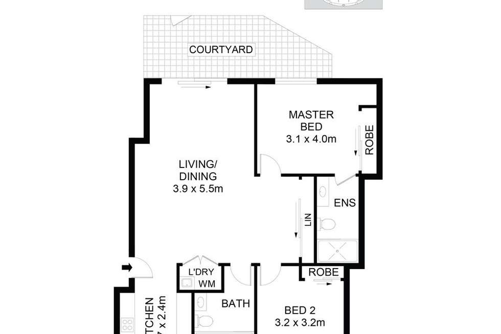 Floorplan of Homely apartment listing, 12/51A-53 High Street, Parramatta NSW 2150