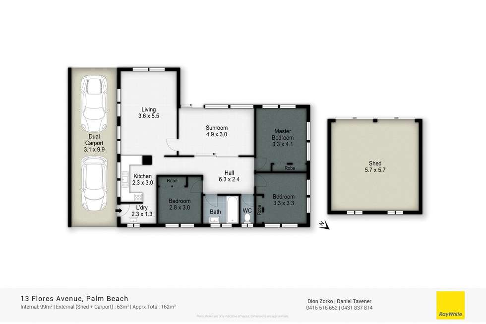 Floorplan of Homely house listing, 13 Flores Avenue, Palm Beach QLD 4221