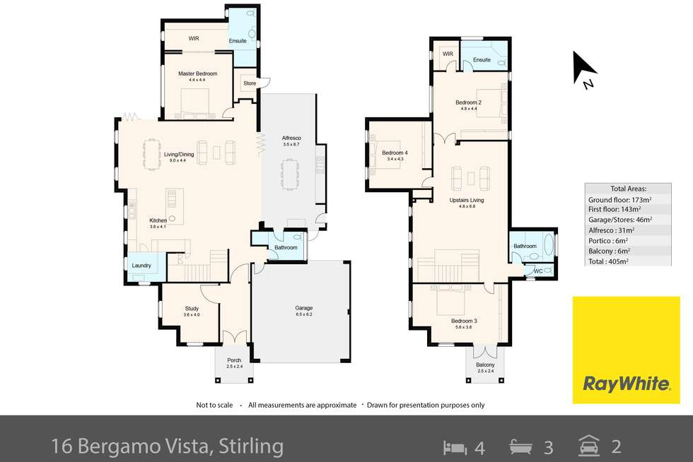 Floorplan of Homely house listing, 16 Bergamo Vista, Stirling WA 6021