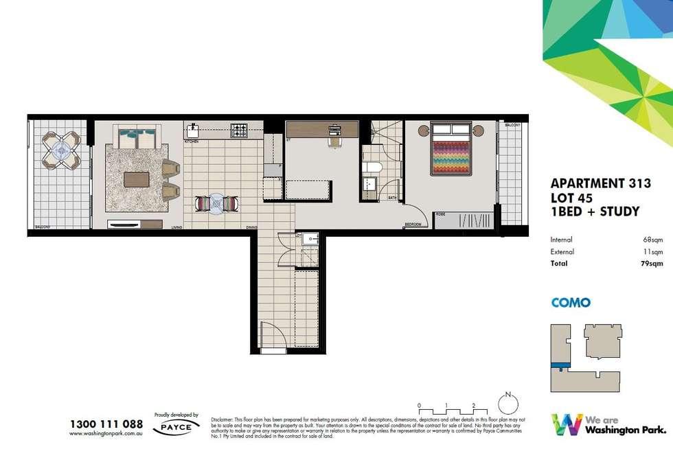 Floorplan of Homely apartment listing, 313/7 Washington Avenue, Riverwood NSW 2210