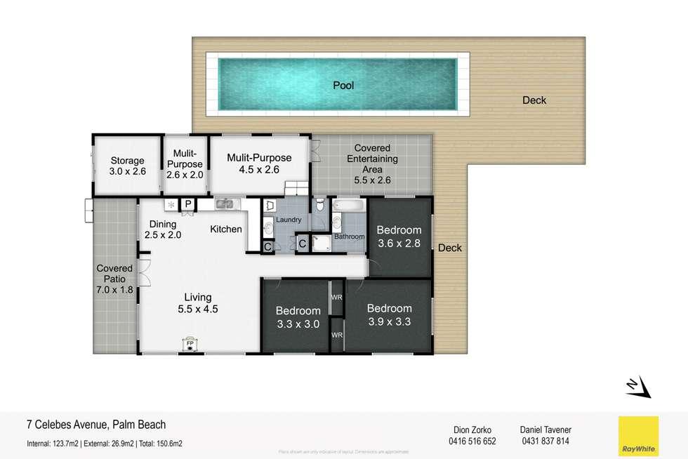 Floorplan of Homely house listing, 7 Celebes Avenue, Palm Beach QLD 4221